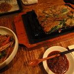 Kankokuanjupontochourinanha - チヂミ チャプチェ