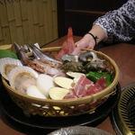 鳩山荘 松庵 - 料理写真:海鮮焼き