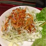 60755659 - ロース定食のサラダ