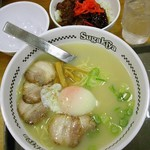 スガキヤ 光音寺バロー店 - 特製ラーメン+牛カルビ焼肉丼セット760円