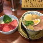 武者気 - 2017/01/01 貝運らぁ麺マグロ丼セット 1000円