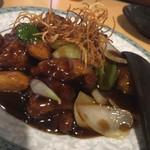 60763431 - 2016.12 豚肉と根菜の黒酢酢豚