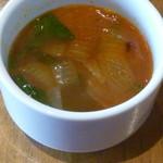 トーチ カフェ - ポークソテー とろりチーズと赤ワインバターソースのスープ