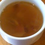 トーチ カフェ - チキンソテー マッシュポテトと照り焼きソースのスープ