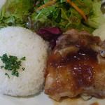 トーチ カフェ - チキンソテー マッシュポテトと照り焼きソース 税込800円
