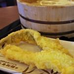丸亀製麺 - 穴子天といか天