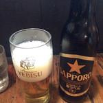 北海道らーめん 壱龍 - サッポロビール小瓶 ¥430