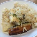 大松 - 鰻釜飯2,200円…ふっくらとした鰻と宮城県産ササニシキ