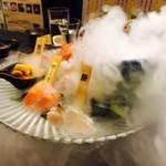 47都道府県の日本酒勢揃い 夢酒 - 煙に包まれた宝石箱!