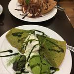 銀座 和蘭豆 - 抹茶シフォン、チョコシフォン