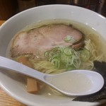 60769652 - 塩らあめん(麺大盛り無料、¥630-)