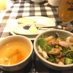 iL-CHIANTI OVEST - ミニカリブサラダ、スープ、パン