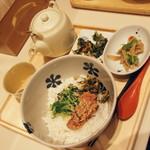 だし茶漬け えん - 炙り明太子と高菜・大盛り(680円)2016年12月