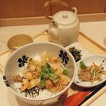 だし茶漬け えん - 小海老・小柱・磯天・大盛り(770円)2016年12月
