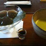 60775773 - わらび餅と抹茶