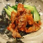 鶏一 - 鶏ハラミのチャンジャ和え480円