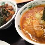日高屋 - ―2016.1.3― 半ラーメンと焼き鳥丼