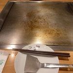 お好み焼 きじ - 鉄板
