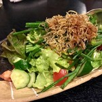 千鶏 - カリカリじゃこネギサラダ