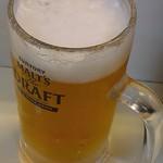 立飲み 天下 - ちょびっと飲んでしもた、生ビール380円