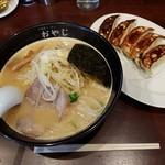 ラーメンおやじ - 【2017/1】おやじ麺・餃子セット