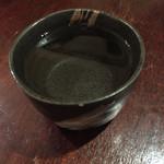 もつ鍋ながまさ - 焼酎お湯割りです。