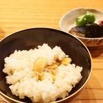 魚菜料理 縄屋 - 栗ごはんと香の物