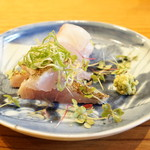 魚菜料理 縄屋 - のどぐろの焼霜づくり、ひげそり鯛