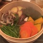 60791746 - (料理)オーガニック野菜のせいろ蒸し~南高梅の梅塩で~