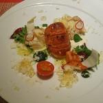 風のテラスKUKUNA - 夕食コース:オードブル ロブスターとカリフラワー スノーホワイト