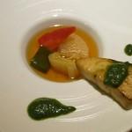 風のテラスKUKUNA - 夕食コース:寒ブリ 冬て野菜のスープ仕立て