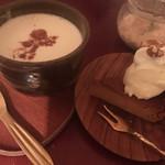 cafe muni - あずきミルク