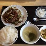 上海厨房 楊家楼 - 201701 楊家楼  ★日替わり 回鍋肉定食(750円)★