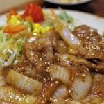 味噌めしや まるたま - 紅豚肩ロース生姜焼き