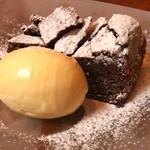 ラパッション -  温かいガトーショコラとパッションフルーツの アイスクリーム