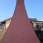 本宮の湯 うまの背 - 入口のシンボルタワー灯