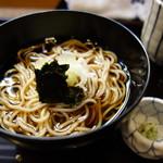 ふじ居 - 食事:冷たいかけ蕎麦