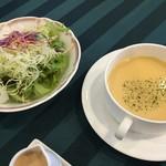 60808714 - セットサラダ&スープ