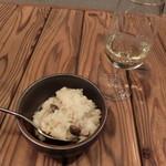 無垢根亭 - DAIMON35 純米大吟醸×キノコのクリーミーリゾット