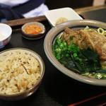 Shureisoba - 本日の日替定食(じゅうしぃ・そばセット)