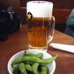 60816635 - 「生ビール」枝豆はお通し?