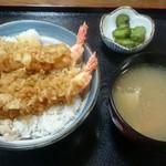 あか堀食堂 - 天丼 800円