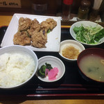 ぢどり亭 - から揚げ定食 \650