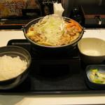 吉野家 - 2016年冬限定「豚味噌鍋膳」です。