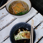 Toufudiyasagadoufusanchuu - お揚げのうどんと湯豆腐