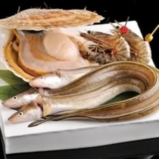 築地から新鮮魚介仕入れております。