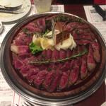小松屋 - 熟成肉のタリアータ (熟成肉3種の薄切り)