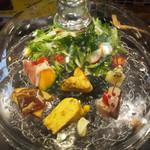 スペインバル ウジヤ - サラダ&前菜 全7品盛り①