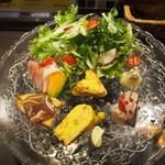 スペインバル ウジヤ - サラダ&前菜 全7品盛り②