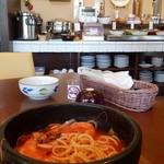 三島イタリアン マリオ パスタ - 【三島市】Mario Pasta 2016年3月 初訪問時 石焼きスープパスタ・海鮮
